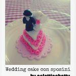Wedding cake con sposini