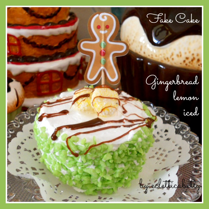 Fake Cake Gingerbread lemon iced