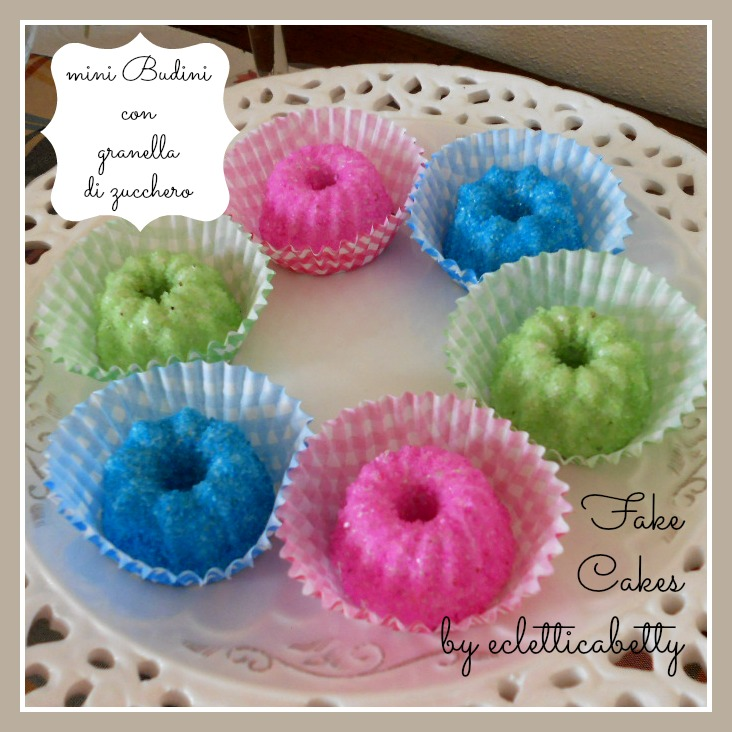 Fake Cakes mini Budini