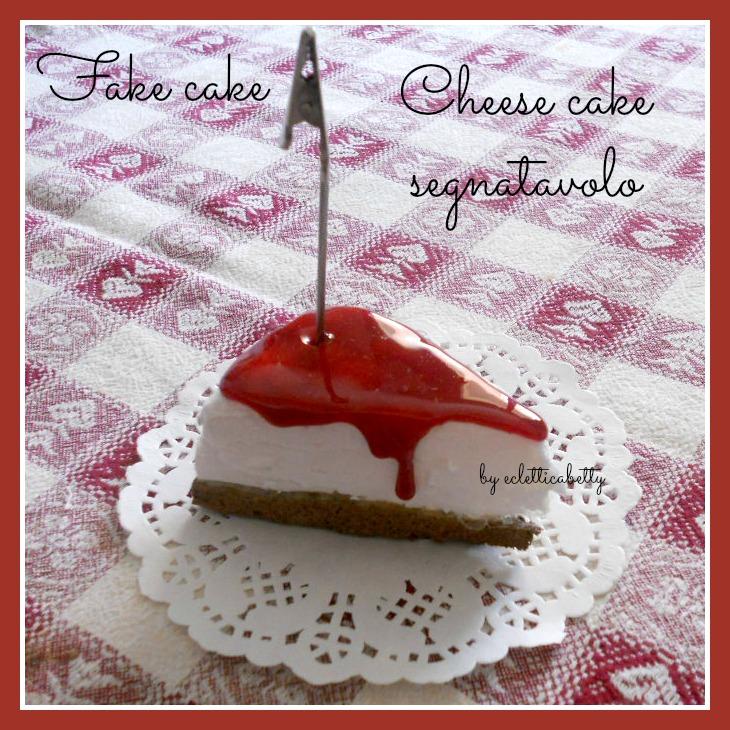 fetta Cheese cake segnatavolo