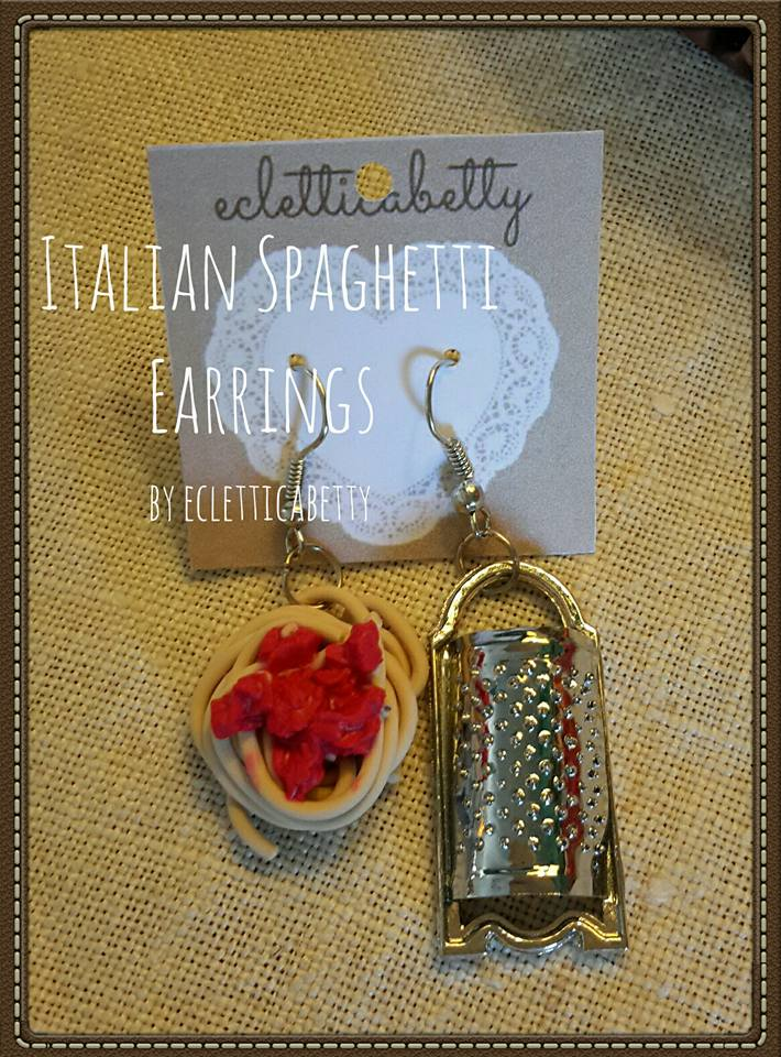 italian spaghetti earrings