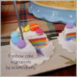 rainbow cake segnaposto