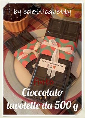 finta cioccolata: cioccolato tavolette 500g.