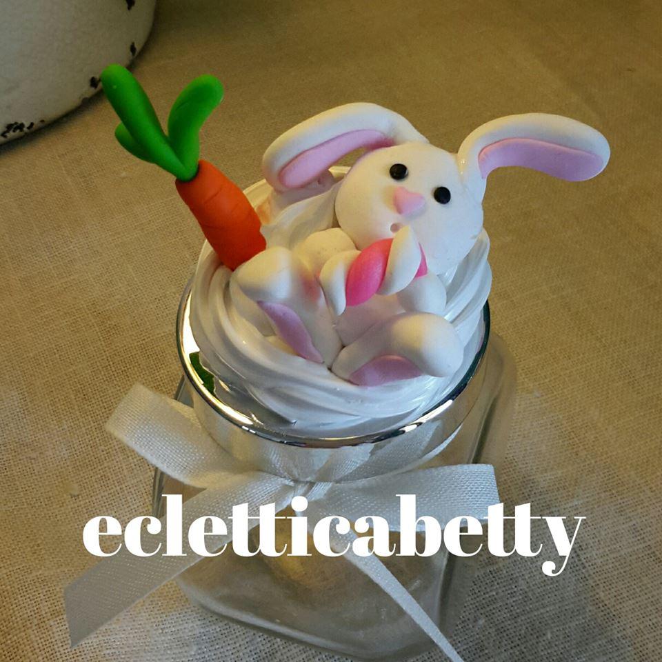 vasettino panna e coniglietto