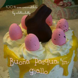 Torta Buona Pasqua in giallo
