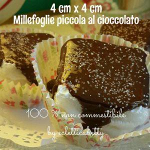 Millefoglie piccola al cioccolato