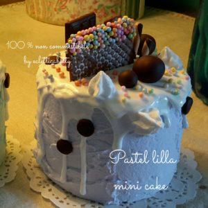 Pastel lilla mini cake