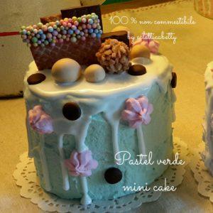 Pastel verde mini cake