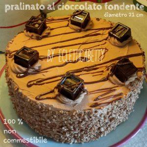 Pralinato al cioccolato fondente 20 cm