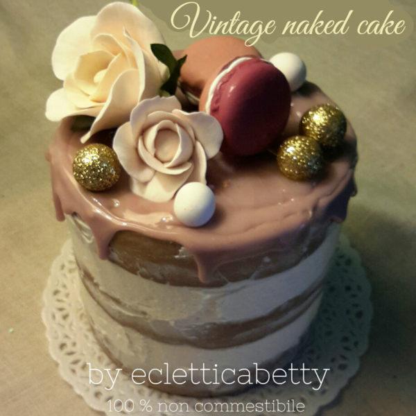 Vintage naked cake