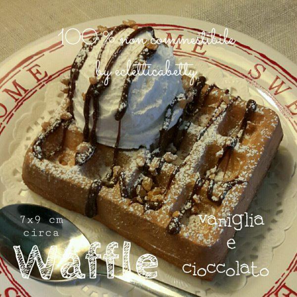 Waffle vaniglia e cioccolato