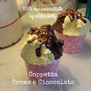 Coppetta gelato Crema e Cioccolato C rosa