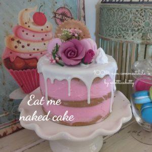 Eat Me naked cake