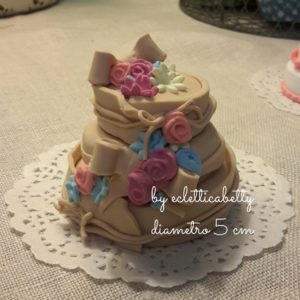 Wedding cake mini fiori 5 cm