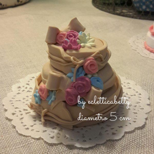 Wedding cake mini fiori 5 cm