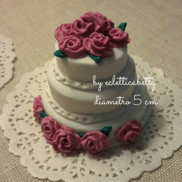 Wedding cake con rose 5 cm