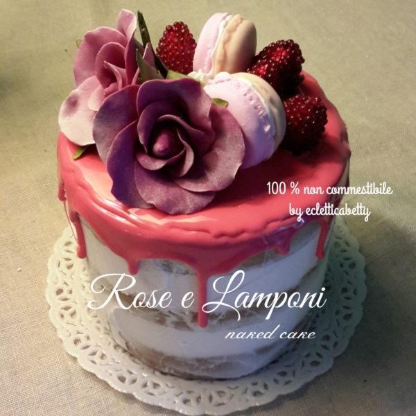 Rose e Lamponi naked cake