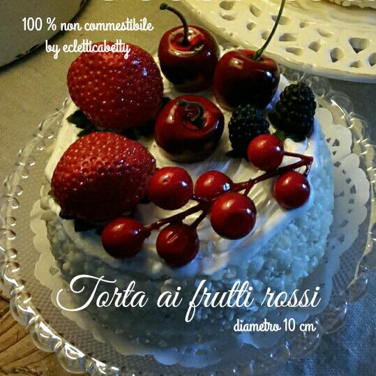 Torta ai frutti rossi 10 cm