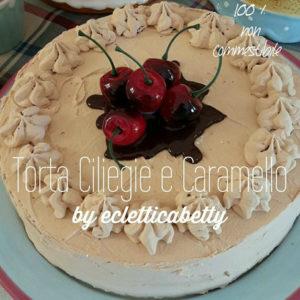 Torta ciliegie e caramello 20 cm