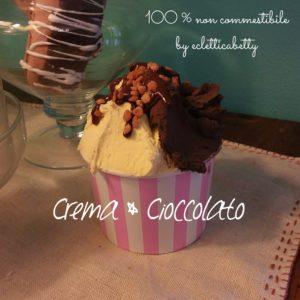 Coppetta gelato Crema e Cioccolato R rosa