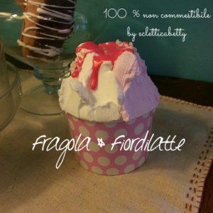 Coppetta gelato Fragola e Fiordilatte P rosa