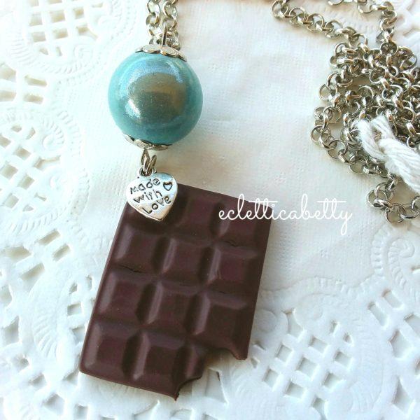 Ciocco Collana con perla verde