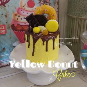 Yellow Donut Cake