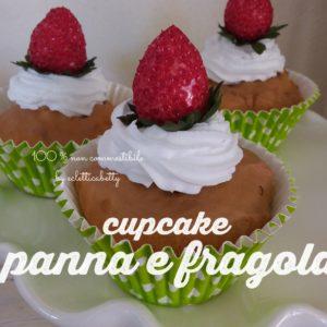 Cupcake panna e fragola