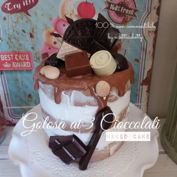 Golosa ai 3 Cioccolati naked cake