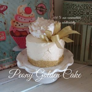 Peony Golden Cake