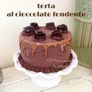 Torta al cioccolato fondente 17 cm