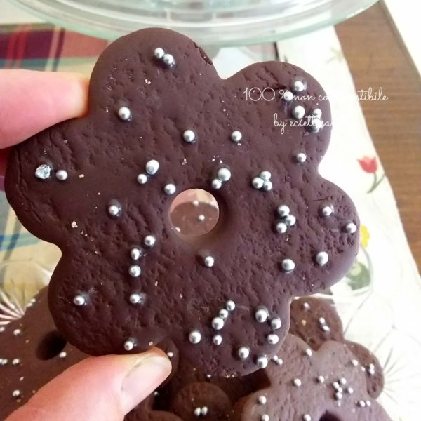 """Biscotto maxi """"Fiore al cioccolato"""""""