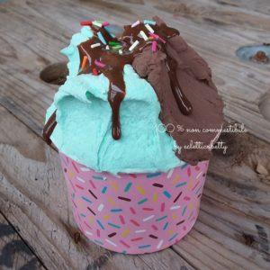 Coppetta gelato Menta e Cioccolato C rosa
