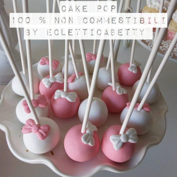 Cake pop bianco fiocco