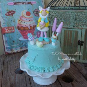Lady Unicorn torta 15 cm