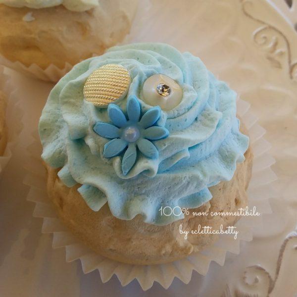 Blue Shabby Cupcake