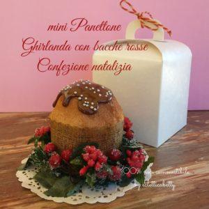mini Panettone con Confezione natalizia
