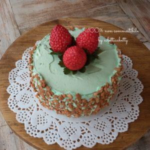 Tortina pistacchio e fragole 10 cm