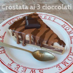 Fetta di Crostata ai 3 cioccolati