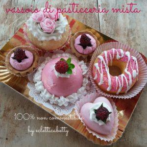 Pink Vassoio Pasticceria mista