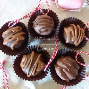 Cioccolatino con glassa da appendere