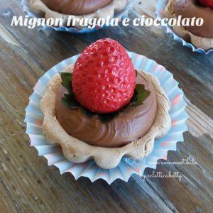Mignon cioccolato e fragola