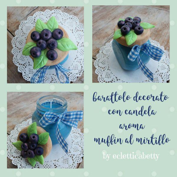 Barattolino Mirtilli con candela Muffin al mirtillo
