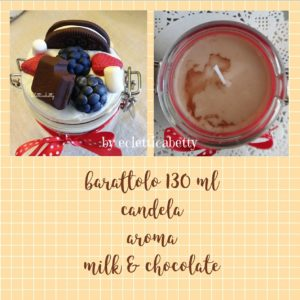 Barattolo 130 ml con candela Milk & Chocolate
