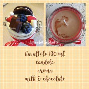 Barattolo 130 ml con candela Milk & Chocolate