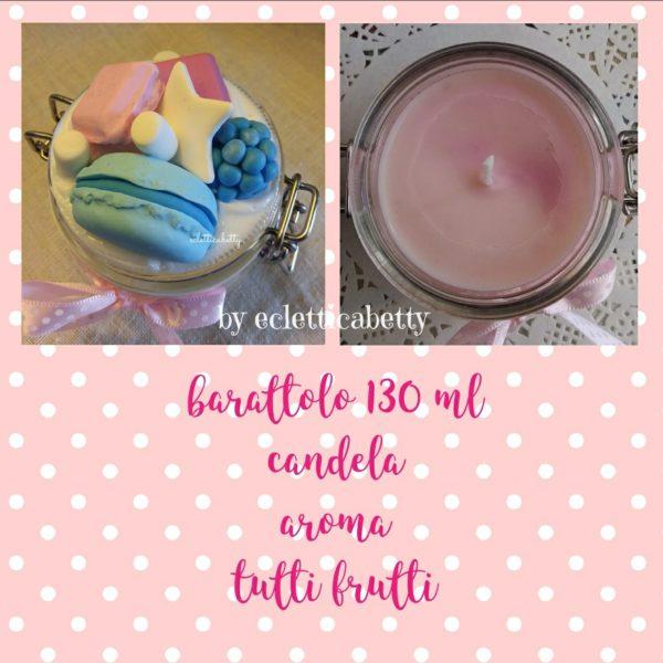 Barattolo 130 ml con candela Tutti Frutti