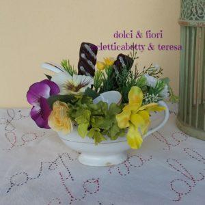 Salsiera Richard fiori e biscotti