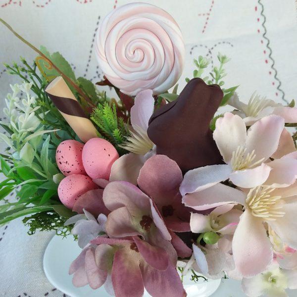 Salsiera francese fiori e dolcetti