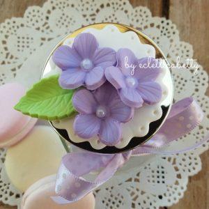Barattolino Flowers con centrino – su ordinazione