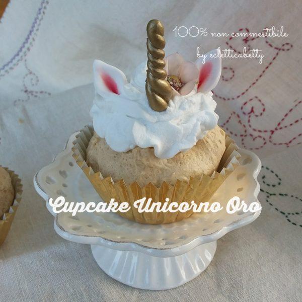 Cupcake Unicorno Oro